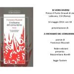 """Presentazione """"Il richiamo del comunismo"""" di Francesco Muzzioli"""
