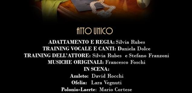 """""""Breve storia di Amleto (o dell'inquieto rassegnarsi a un destino)"""". Regia di Silvia Rubes"""