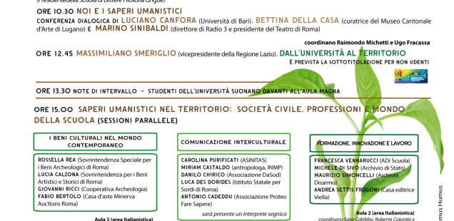 Gli studi umanistici aperti a tutti / Roma Tre